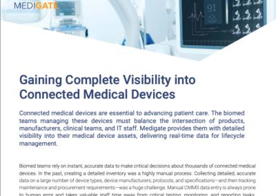 Medigate BioMed Asset Inventory and Management Solution Brief